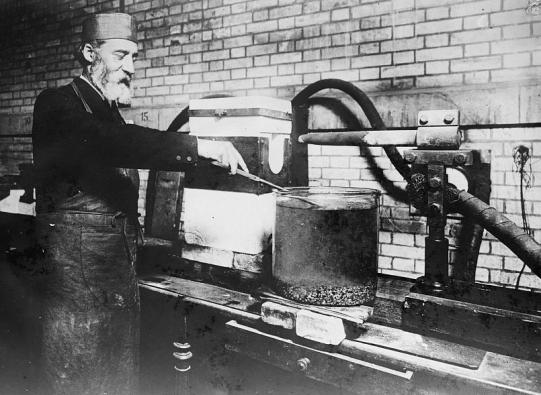 Henri Moissan hard at work- Image from Wikipedia